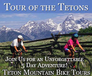 Teton Mountain Bike - Daily Tours & Bike Rentals : Enjoy fun full- and 1/2-day guided bike tours showing Teton highlights or multi-day packages including Yellowstone Park. Easy riding for all ages (full suspension bikes) including kids bikes and trailers. Bike Rentals for the bike path system and forest trails.