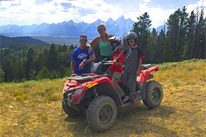 Scenic Safaris - Park Safaris or ATV tours :: Experience Yellowstone and Grand Teton in Jackson, WY with breathtaking day tours all summer long! Or, take an unguided trip along forest service roads with the family.