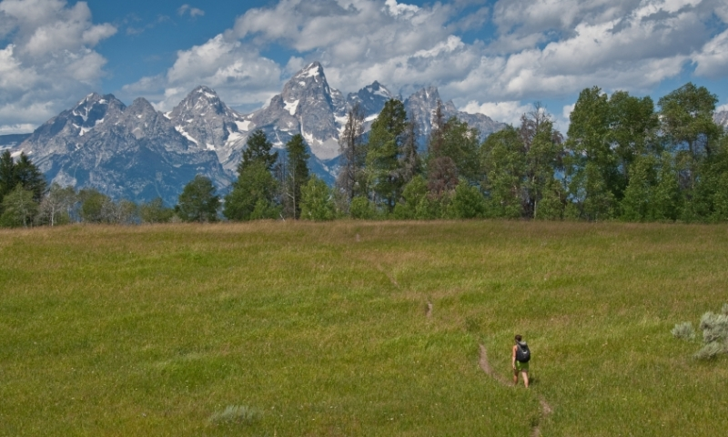 Gros Ventre Mountains Hiking Trail Grand Teton National Park