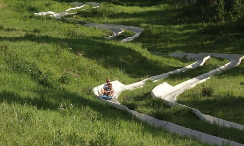 Alpine Slide Snow King Ski Resort Jackson Wyoming Kids Family