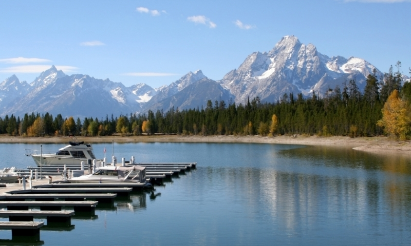 Colter Bay Village Grand Teton National Park Marina Boats