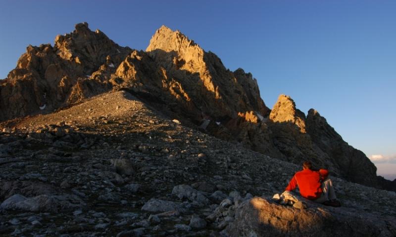 Hiking Saddle Grand Teton Natinal Park Garnet Canyon Lupine Meadows Climbing