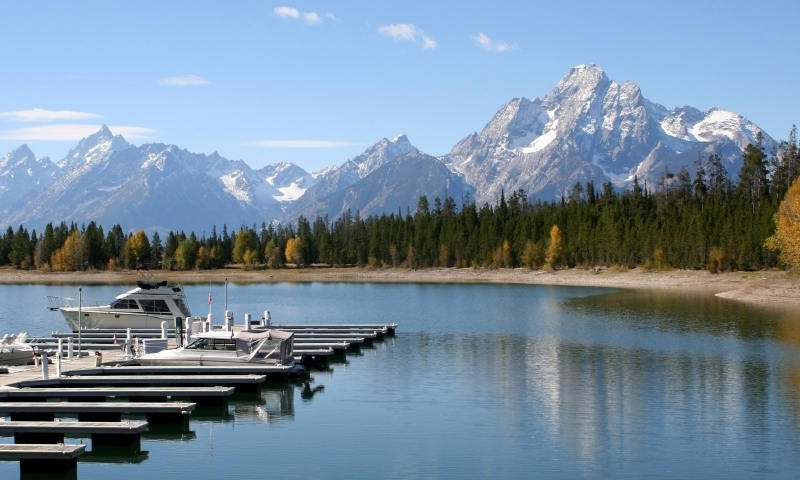 Colter Bay Village Grand Teton National Park Marina Boats