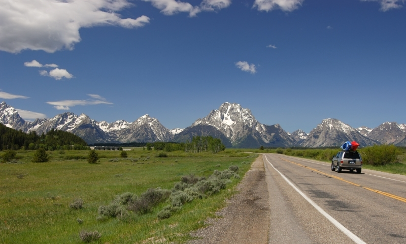 Grand Teton National Park Scenic Routes Driving Auto