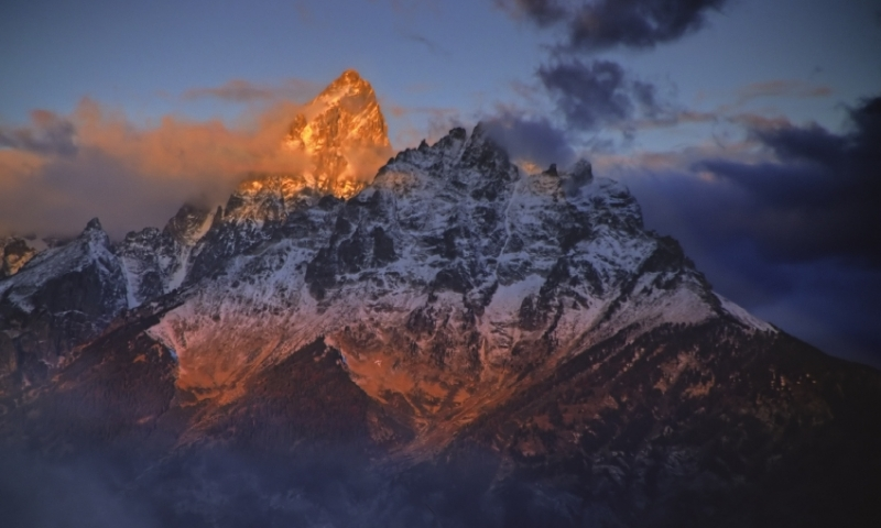 Grand Teton National Park Mountain Range Sunrise