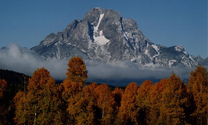 Mount Moran in Grand Teton National Park
