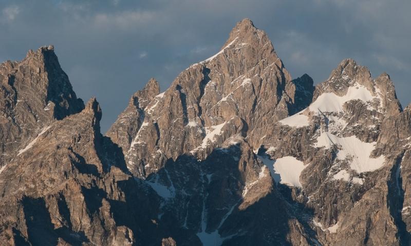 Cathedral Group Grand Teton National Park Mountain Range