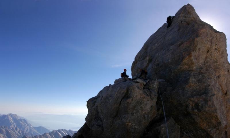 Climbing Grand Teton National Park Summit