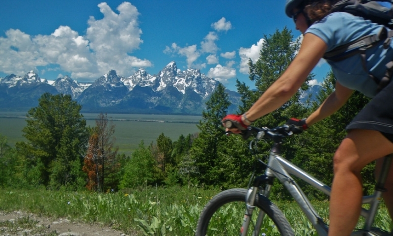 Mountain Biking Shadow Grand Teton Jackson