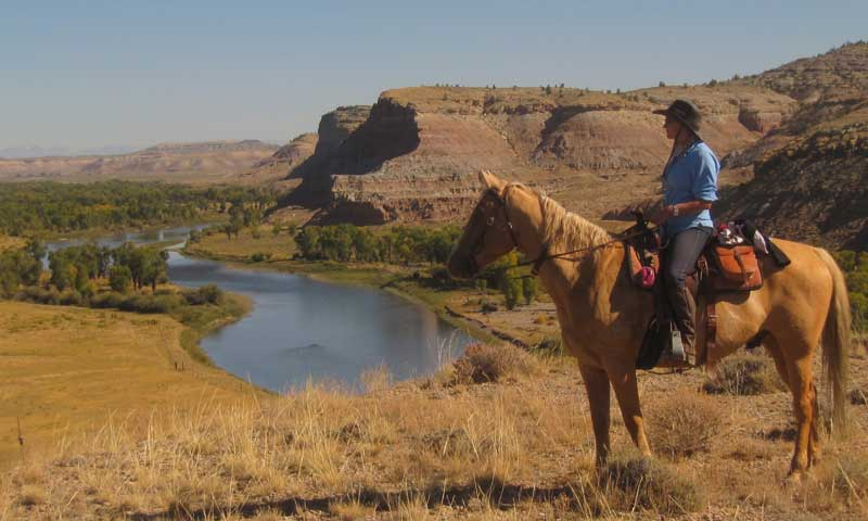 Horseback Riding near the Green River Valley in Lander Wyoming