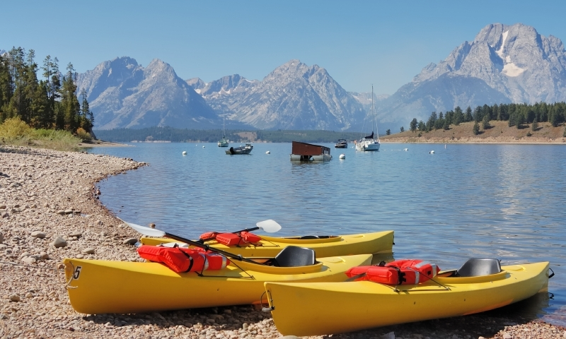 Kayak Canoe Canoeing Kayaking Jackson Lake Grand Teton National Park