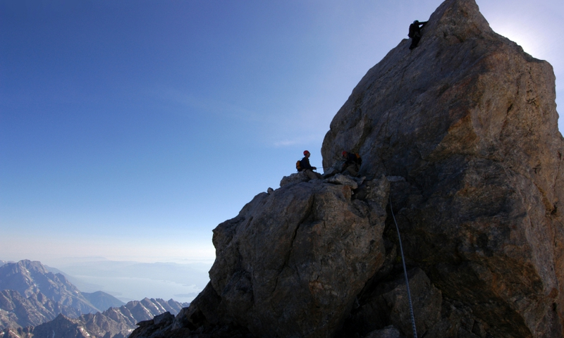 Climbing Grand Teton National Park Summit
