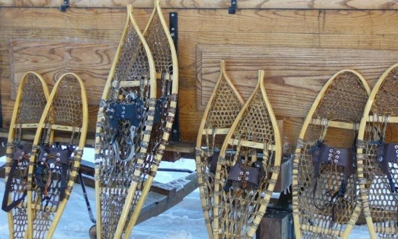 Snowshoes Wagon Winter Grand Teton National Park