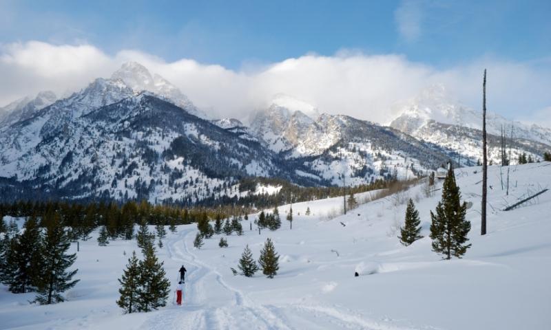 Snowshoeing Winter Grand Teton National Park