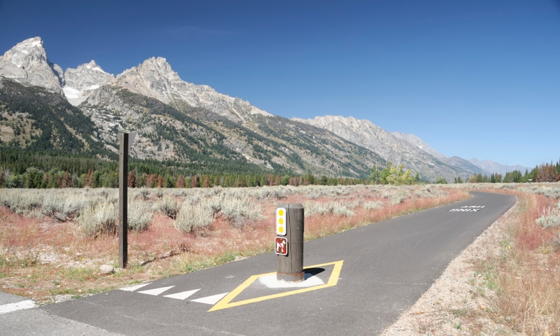 Biking Path Trail Grand Teton National Park