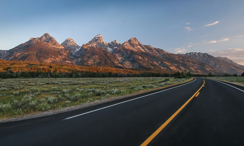 Scenic Drive through Grand Teton National Park
