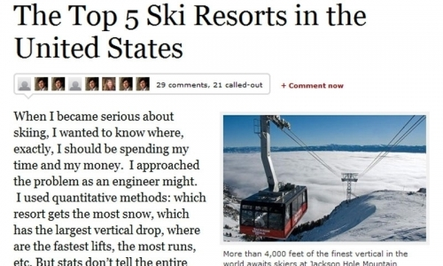 Forbes Article Best Ski Resorts